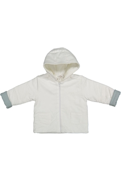 Shoptiques Product: White-Jacket With Mint-Green-Cuffs