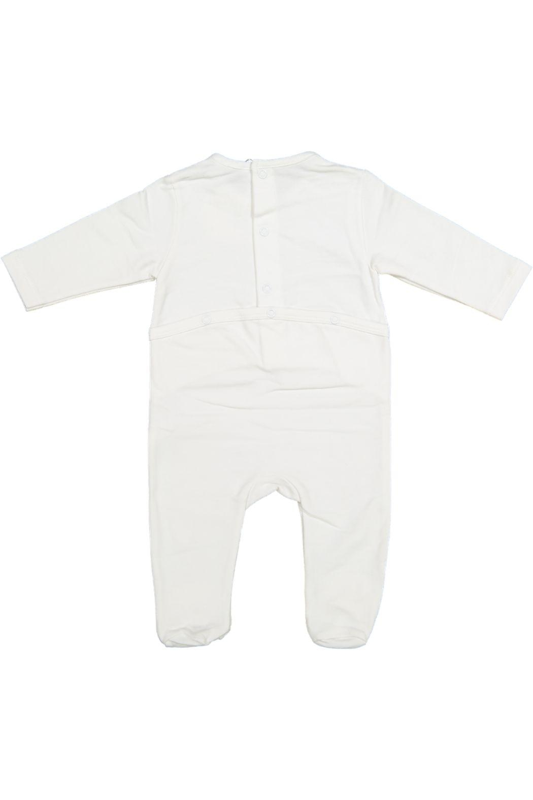 Juste Clé White Onesie With Grey Luggage - Front Full Image