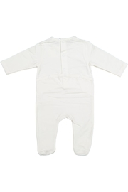 Juste Clé White Onesie With Grey Luggage - Front full body