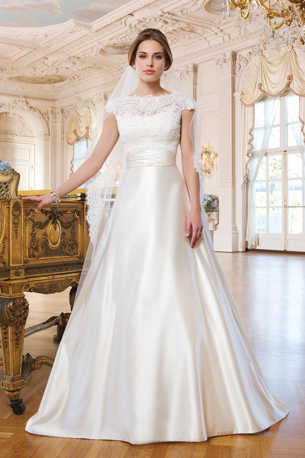 Justin Alexander Satin Ball Gown from Illinois by Bridal Elegance ...