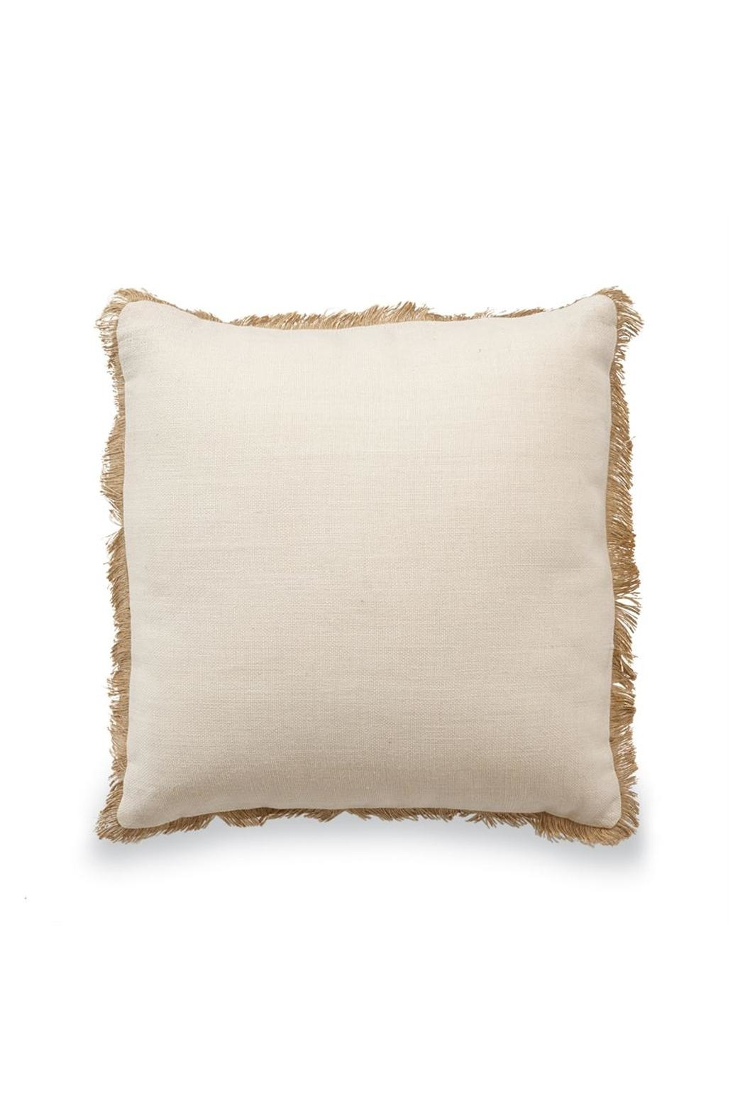MUDPIE Jute Pillow - Front Cropped Image