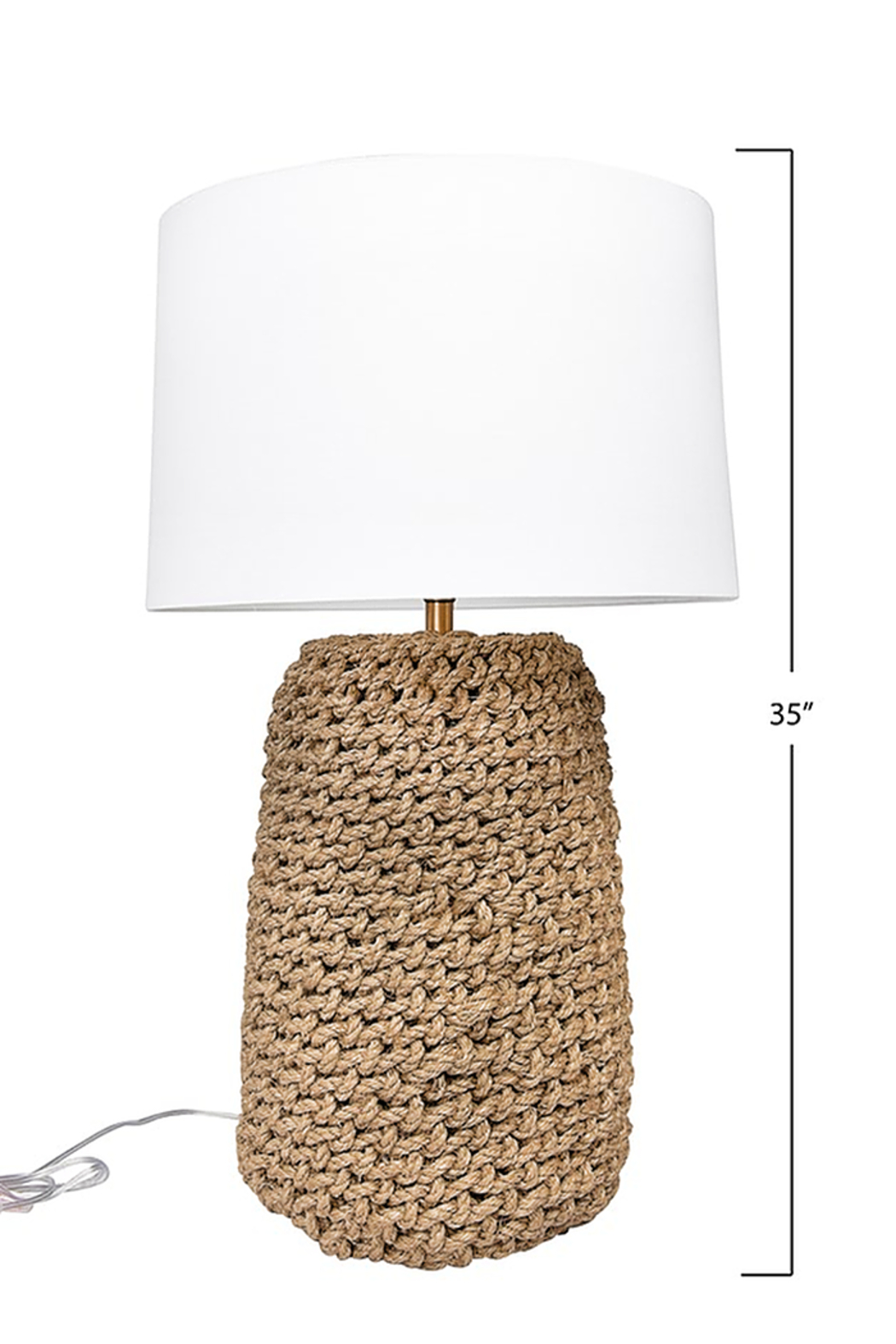 Creative Co-Op Jute Rope Table Lamp - Side Cropped Image