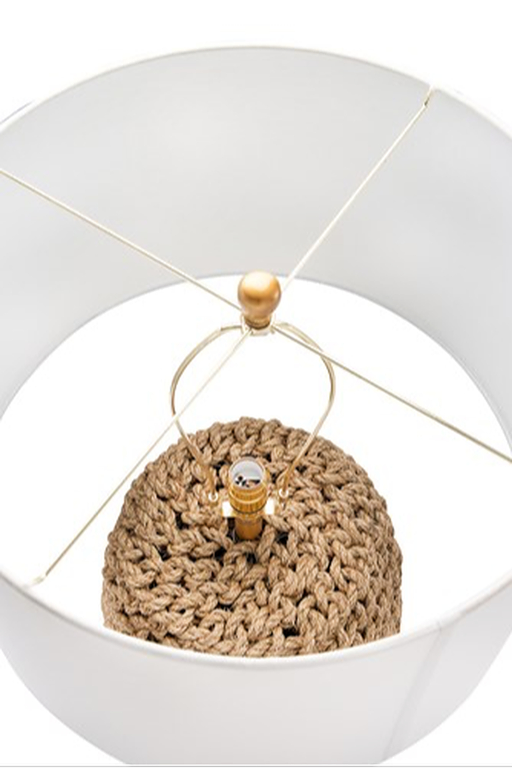 Creative Co-Op Jute Rope Table Lamp - Back Cropped Image