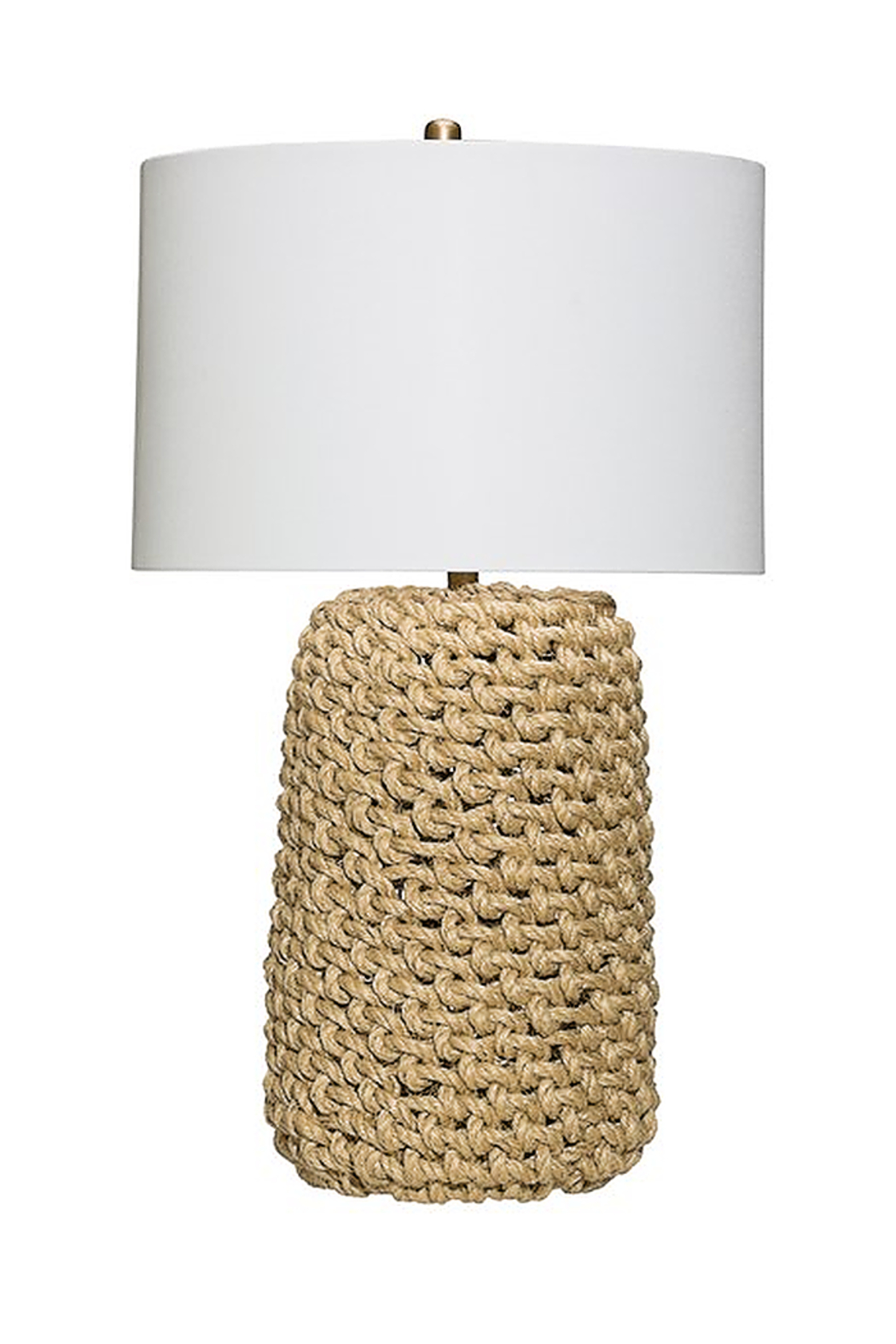 Creative Co-Op Jute Rope Table Lamp - Front Full Image