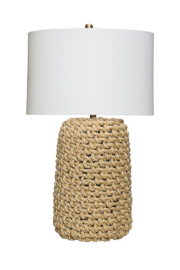 Creative Co-Op Jute Rope Table Lamp - Front full body