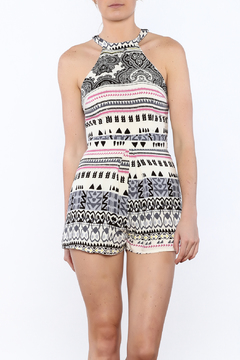 JW Designs White Mix Print Romper - Product List Image