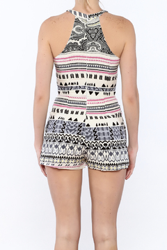 JW Designs White Mix Print Romper - Alternate List Image