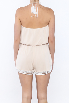 JW Designs Crochet Halter Romper - Alternate List Image