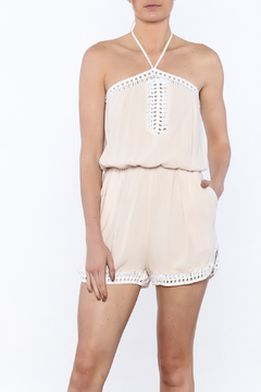 JW Designs Crochet Halter Romper - Product List Image