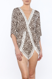 JW Designs Crochet Trim Romper - Product Mini Image
