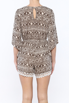 JW Designs Crochet Trim Romper - Alternate List Image
