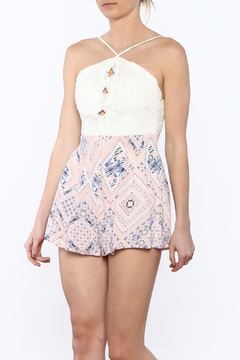 JW Designs Fit And Flare Lace Romper - Product List Image