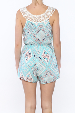 JW Designs Printed Crochet Romper - Alternate List Image