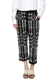 Shoptiques Product: Embroidered Linen Capri - Side cropped