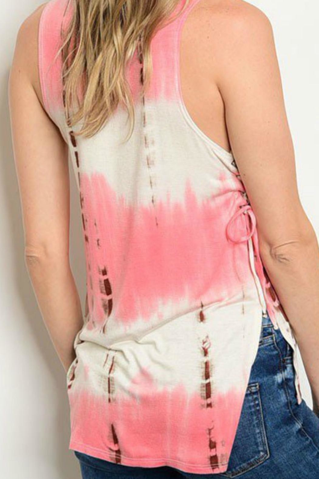 JW Designs Sleeveless Tie-Dye Top - Front Full Image