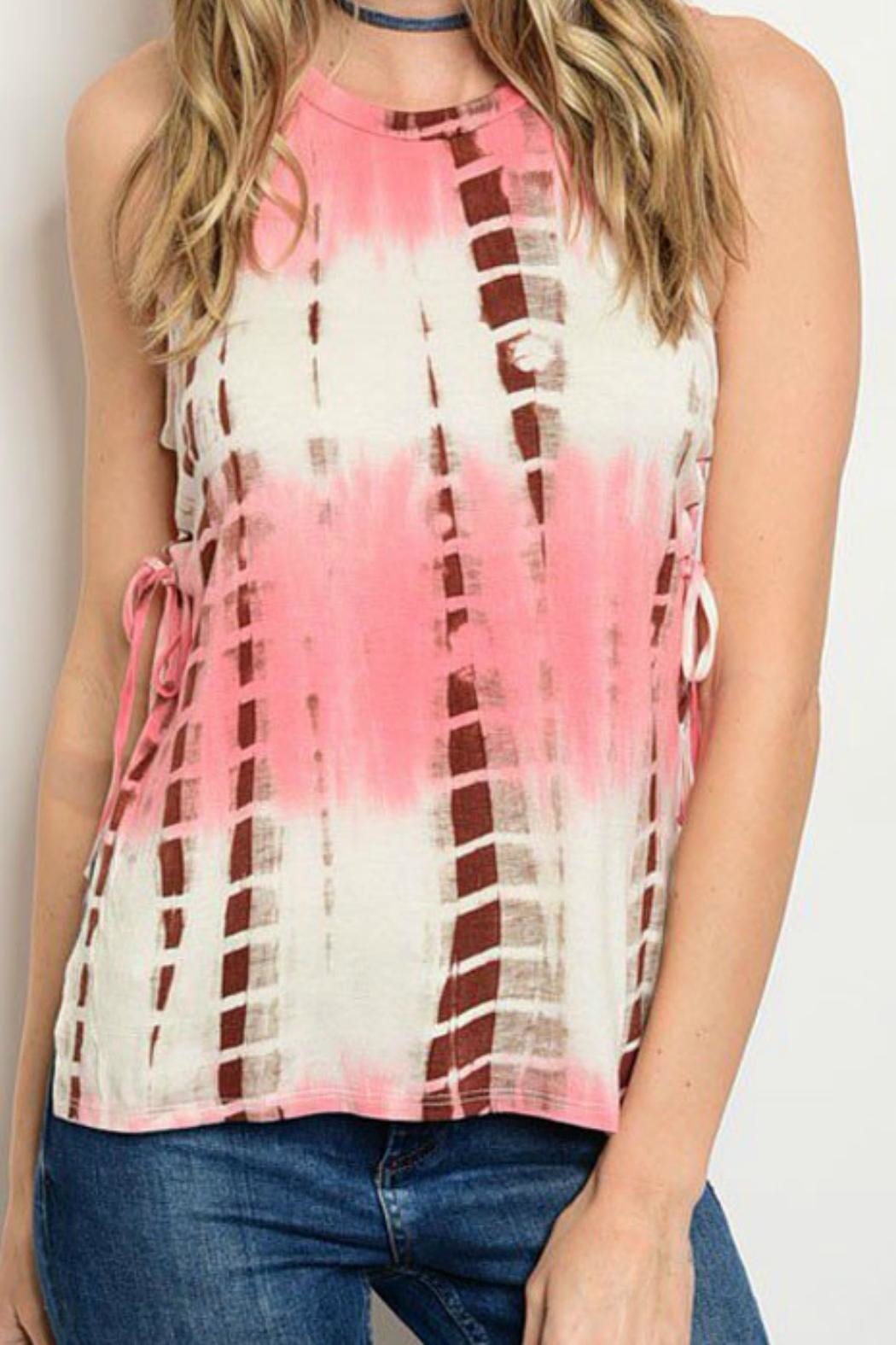 JW Designs Sleeveless Tie-Dye Top - Front Cropped Image