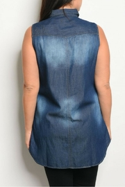 JW Signature Dark Blue Top - Front full body