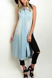 JW Signature Denim Duster Tunic - Product Mini Image