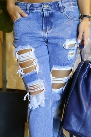 JW Signature Distressed Jeans - Back cropped