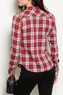 JW Signature Red Plaid Top - Alternate List Image