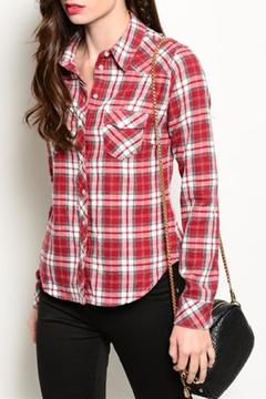 JW Signature Red Plaid Top - Product List Image