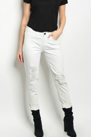 JW Signature White Distressed Denim - Product Mini Image