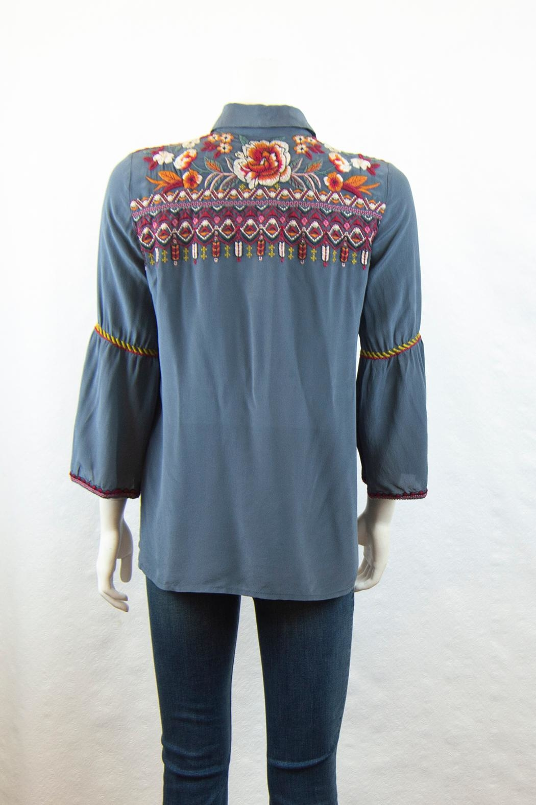 3J Workshop by Johnny Was Jyll Flare Shirt - Side Cropped Image