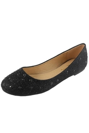 Jynx Glitter Jeweled Flats - Front cropped