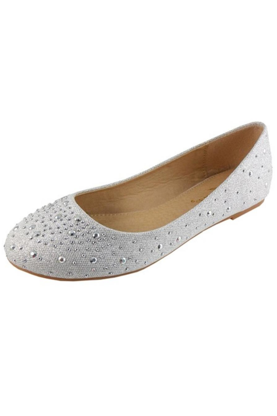 Jynx Glitter Jeweled Flats - Front Cropped Image