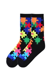 K. Bell Socks Puzzle Piece Socks - Product Mini Image