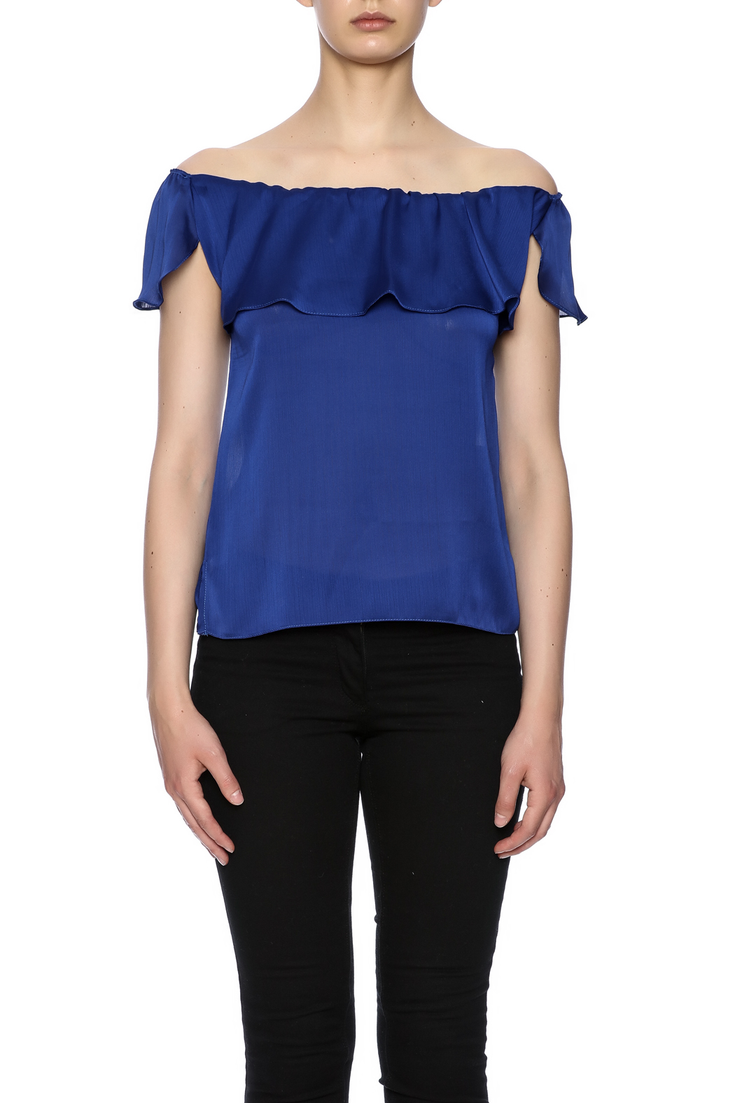 K&D London Off Shoulder Top - Side Cropped Image