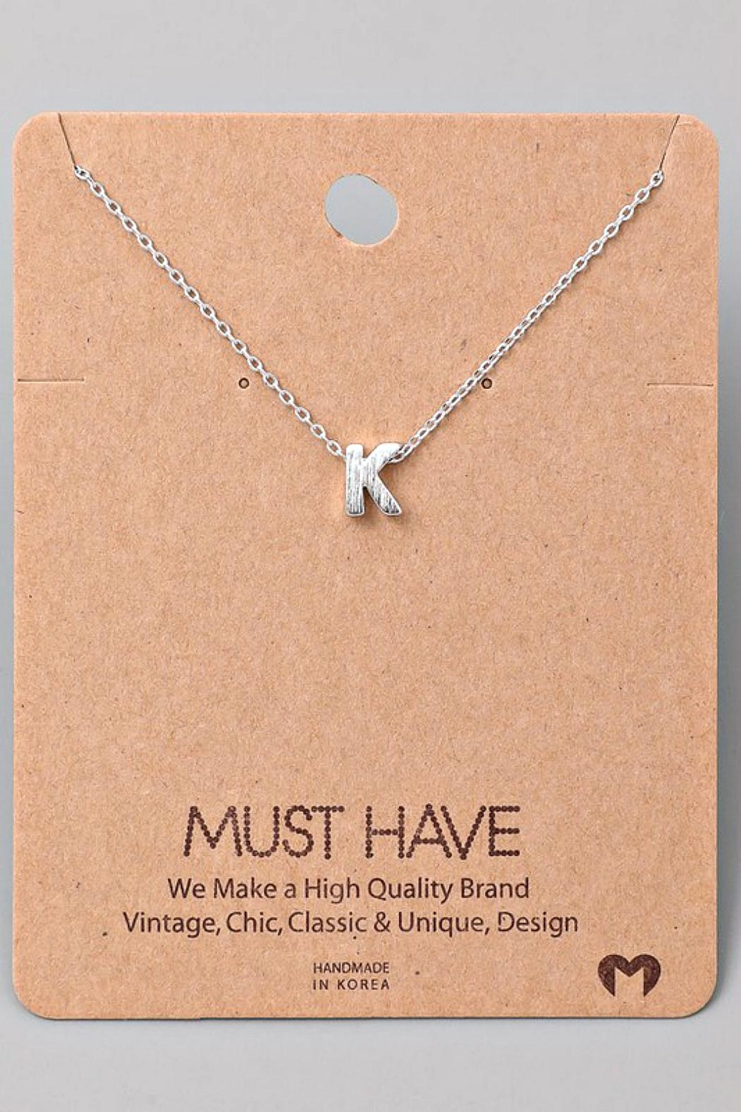 Fame Accessories K-Initial Pendant Necklace - Main Image