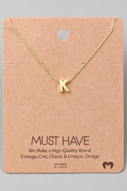 Fame Accessories K-Initial Pendant Necklace - Front cropped