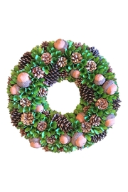 K&K Interiors Acorn Pinecone Wreath - Product Mini Image