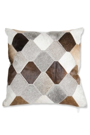 K&K Interiors Honeycomb Hide Pillow - Product Mini Image