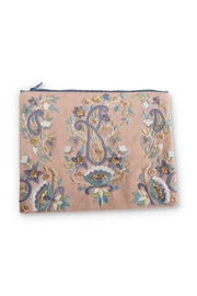 K&K Interiors Paisley Cosmetic Pouch - Front cropped
