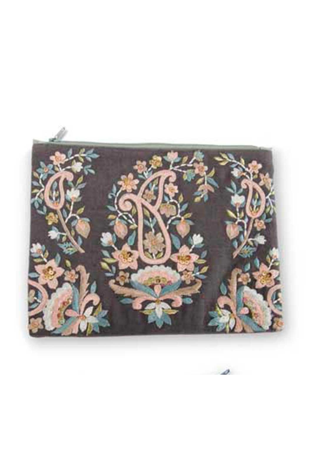 K&K Interiors Paisley Cosmetic Pouch - Main Image
