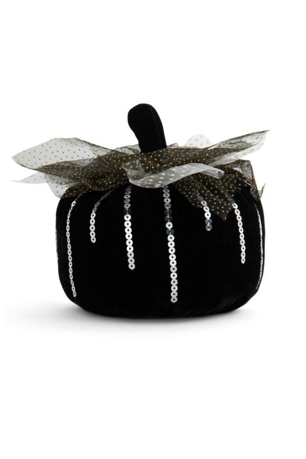 K&K Interiors Small Velvet Pumpkin - Main Image