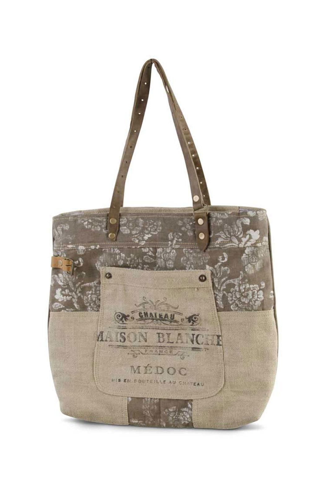 K&K Interiors Weathered Canvas Bag - Front Cropped Image