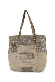 K&K Interiors Weathered Canvas Bag - Front cropped