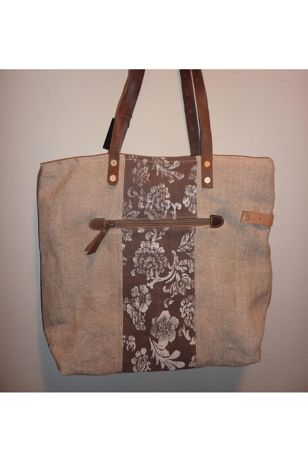 K&K Interiors Weathered Canvas Bag - Side Cropped Image