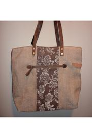 K&K Interiors Weathered Canvas Bag - Side cropped