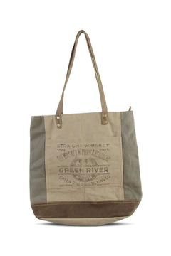 K&K Interiors Weathered Canvas Tote - Product List Image