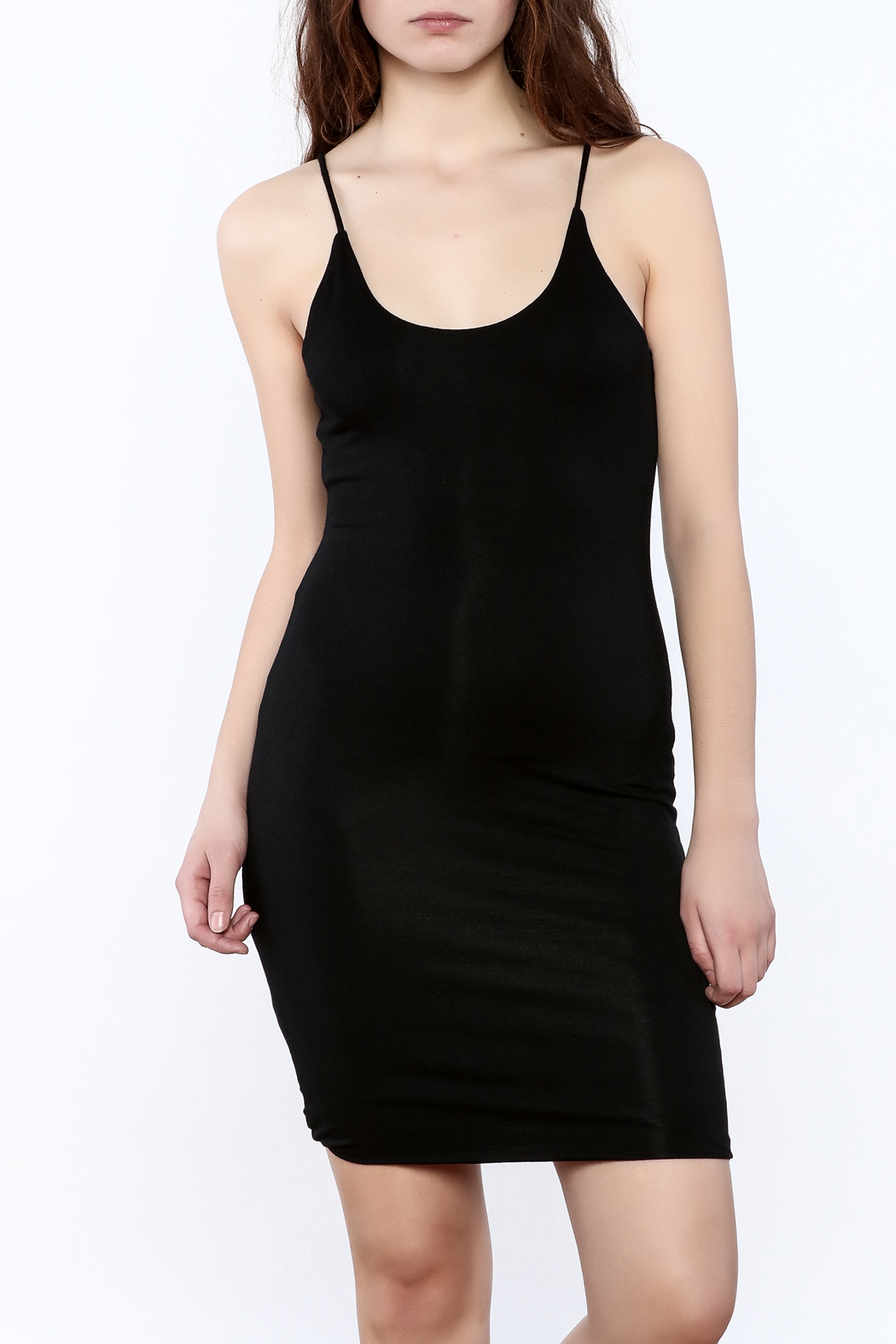 K too Bodycon Tank Dress - Front Cropped Image