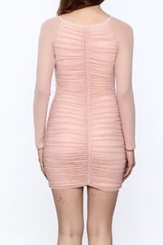 K too Pink Ruched Dress - Back cropped