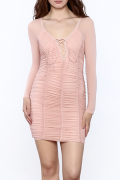 K too Pink Ruched Dress - Product List Image