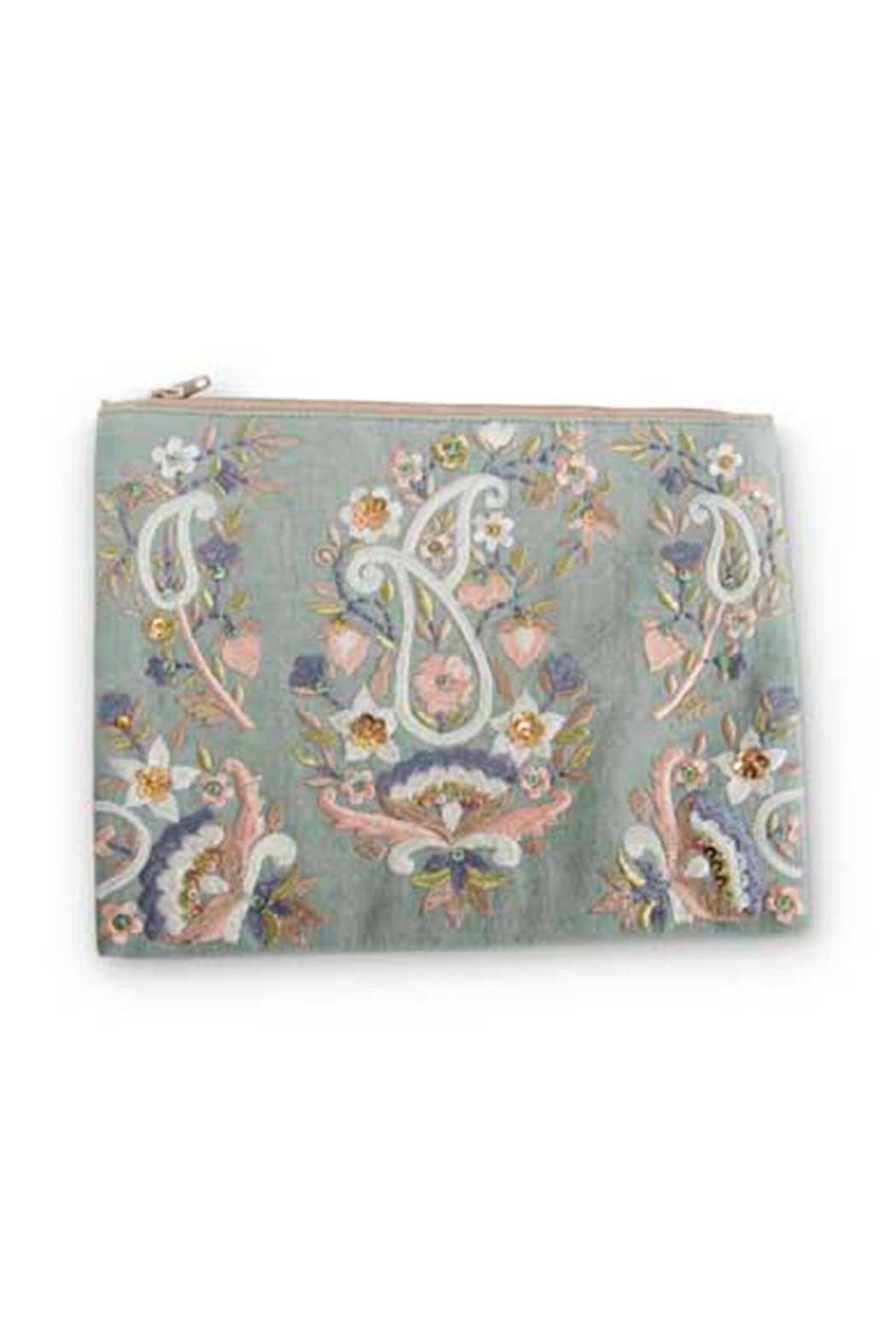 K & K Paisley Cosmetic Pouch - Main Image