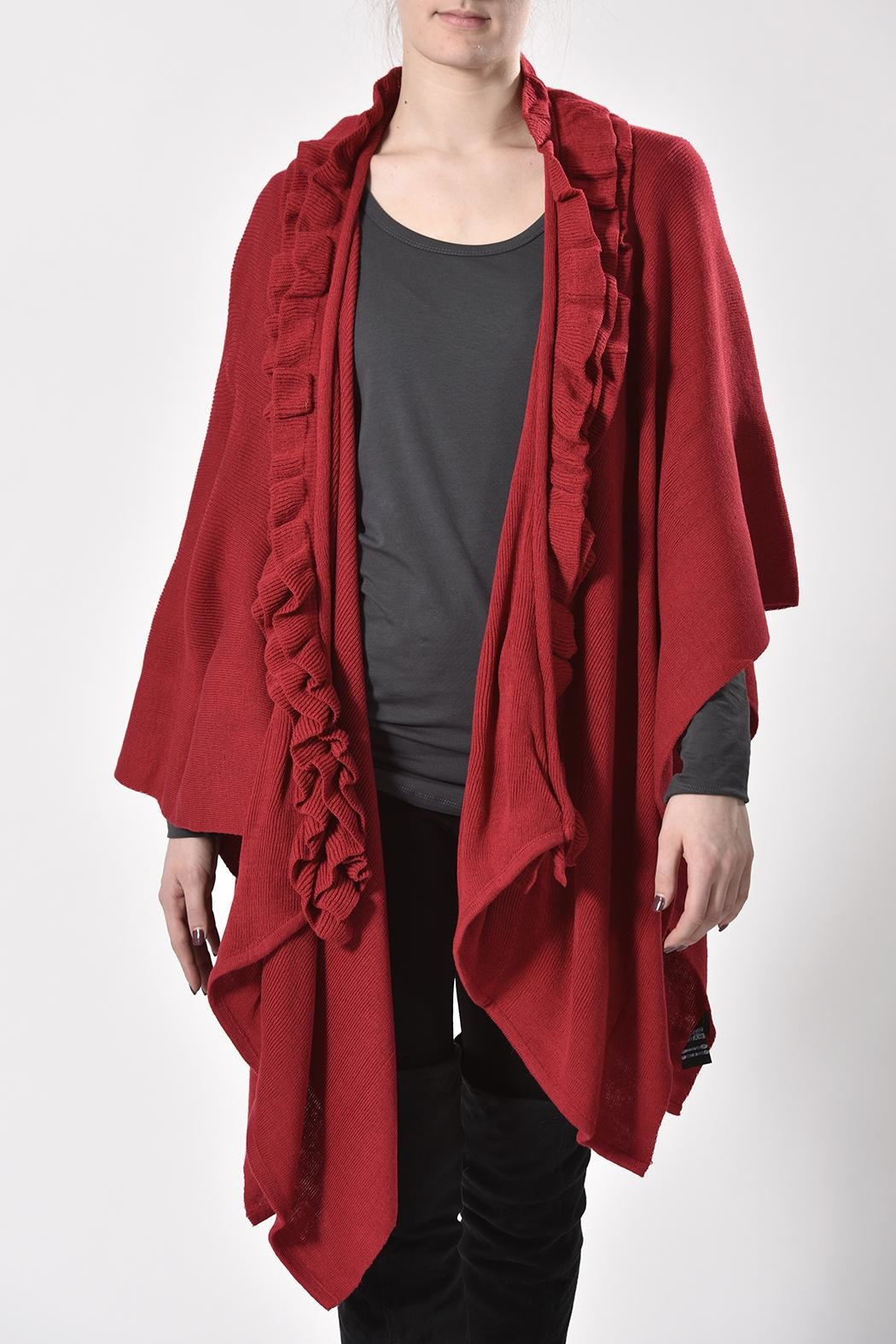 K & K Ruffled Cape - Front Cropped Image
