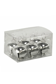 K & K Silver-Jingle-Bell Placecard Holders - Product Mini Image
