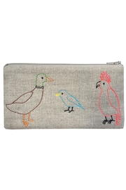 K Studio Home Embroidered Bird Pouch - Product Mini Image